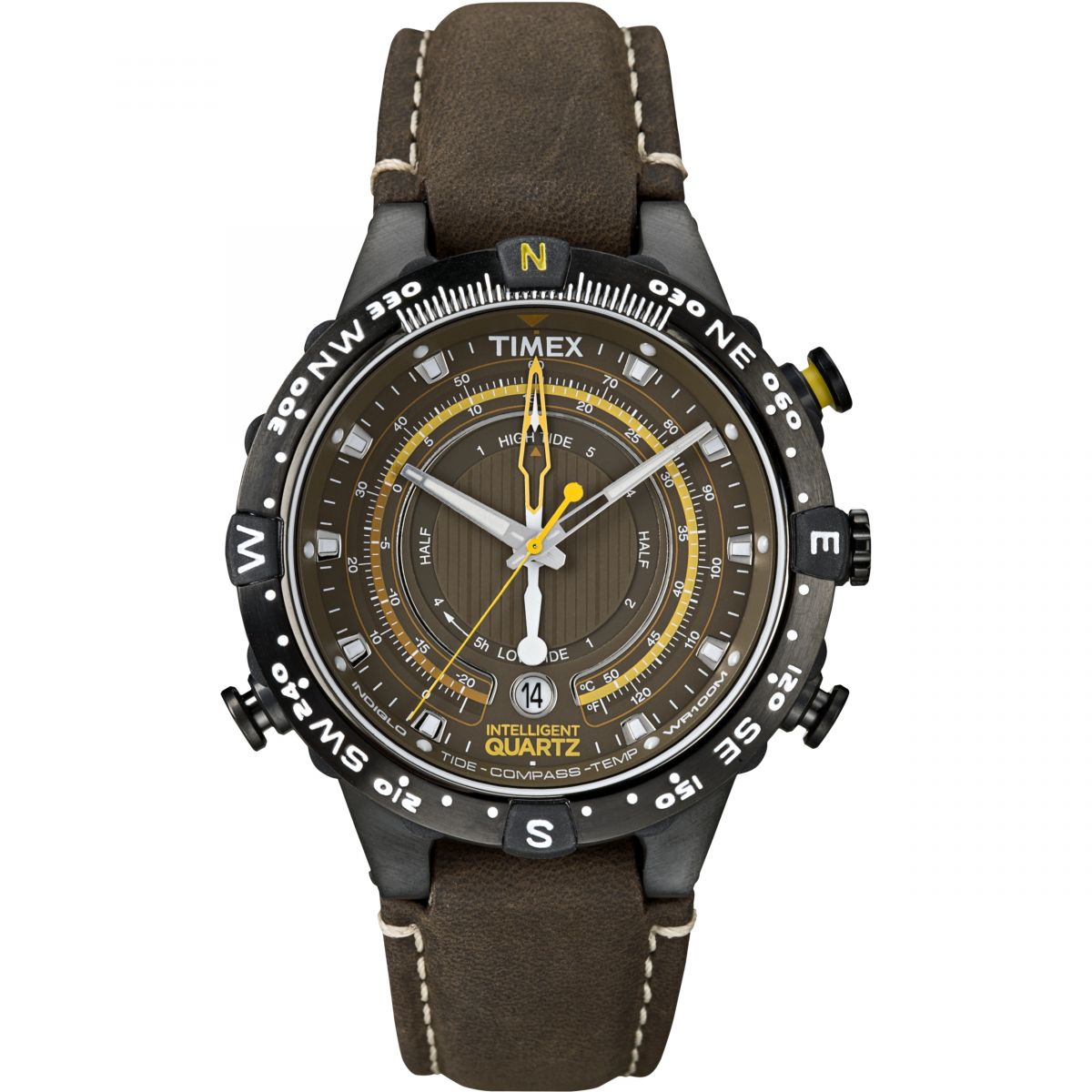 Gents timex tide temp compass watch t2p141 for Watches with compass