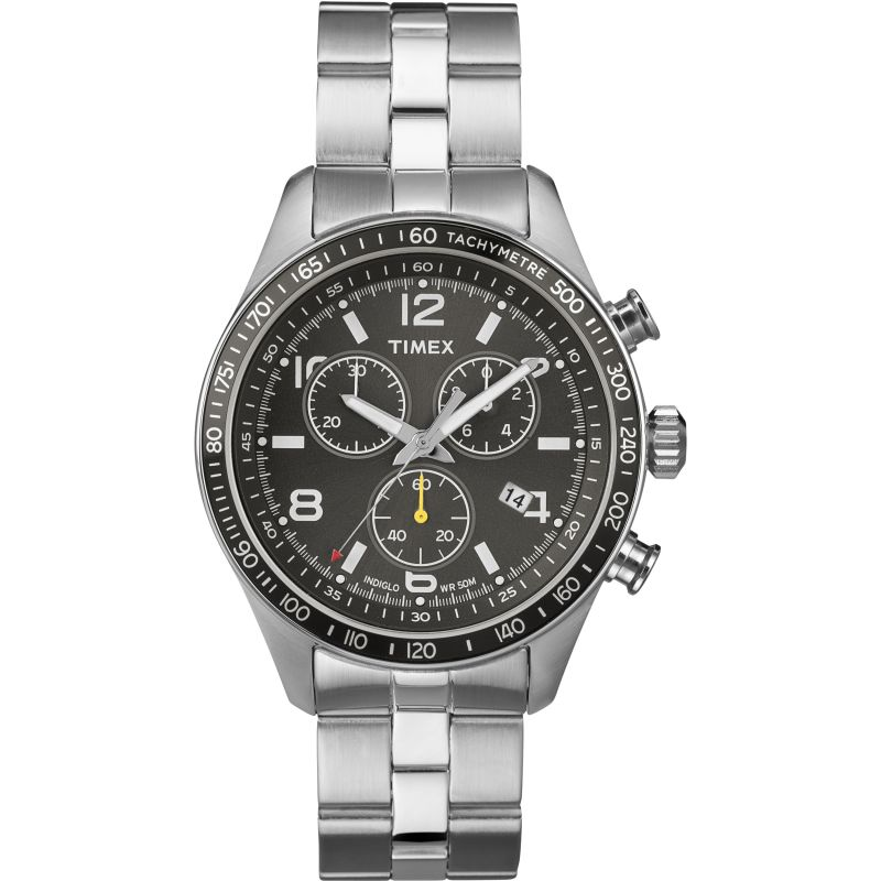 Mens Timex Indiglo City Chronograph Watch T2P041