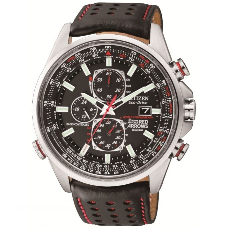 Citizen Red Arrows A-T Herrkronograf Svart AT8060-09E