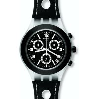 Herren Swatch Black Cup Chronograph Watch SVCK4072