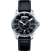 Herren Hamilton Khaki Pilot Day-Date Watch H64615735