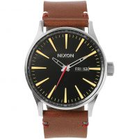 Nixon The Sentry Leather Herenhorloge Bruin A105-019