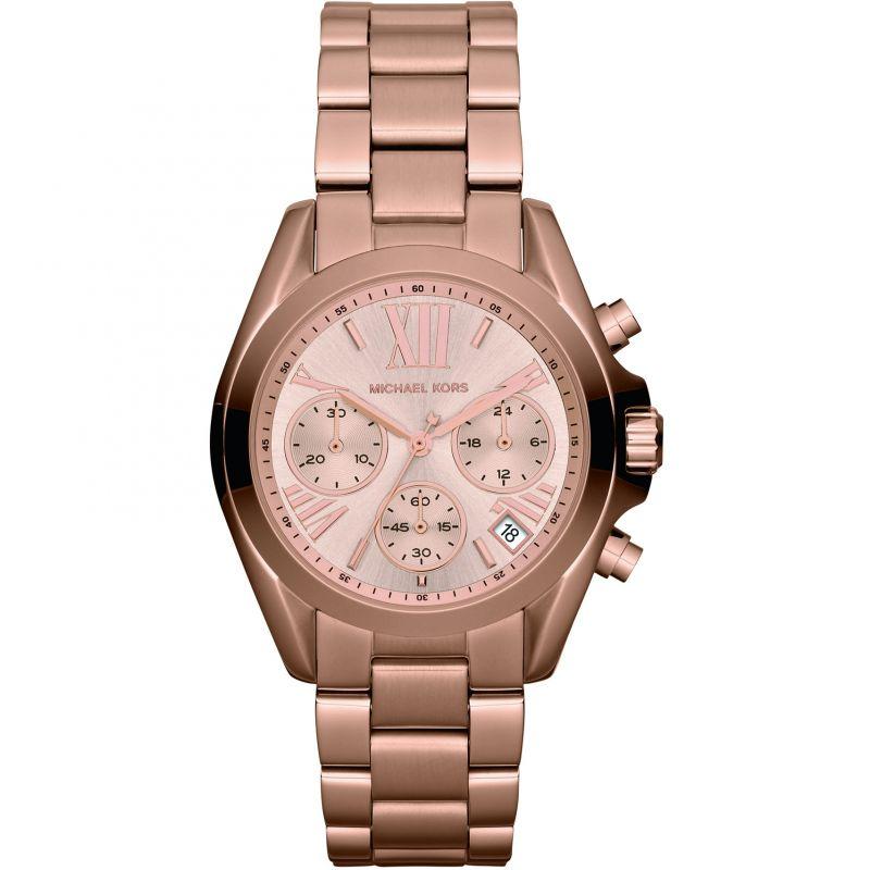 femme Michael Kors Mini Bradshaw Chronograph Watch MK5799