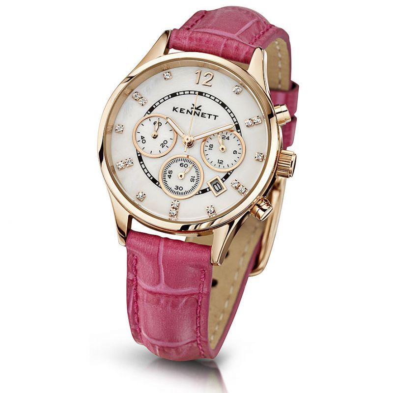 Damen Kennett Lady Savro Chronograph Watch LWSAVWHGOLPK