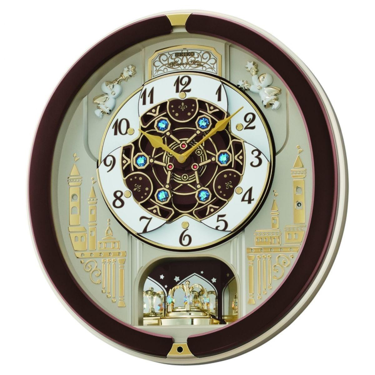 Clock Seiko Clocks Musical Marionette Wall Clock Alarm