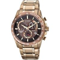 Mens Citizen Chrono Perpetual A-T Alarm Chronograph Radio Controlled Eco-Drive Watch