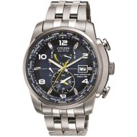 Mens Citizen World Time A.T Alarm Radio Controlled Eco-Drive Watch