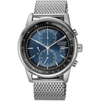 Hommes Citizen Maille Chronographe Eco-Drive Montre