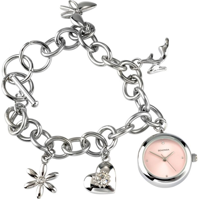 Ladies Sekonda Charm Bracelet Watch 4300.9999