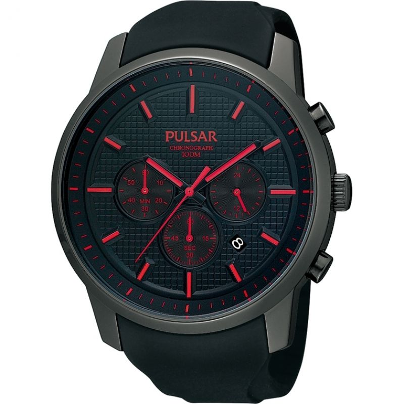homme Pulsar Chronograph Watch PT3195X1