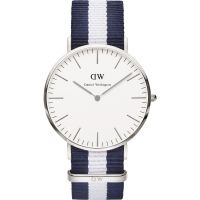 Herren Daniel Wellington Glasgow Silber 40mm Uhr