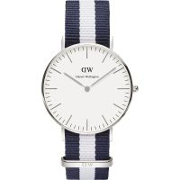 Herren Daniel Wellington Glasgow Silver 36mm Watch DW00100047