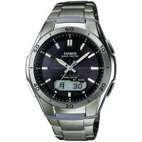 Mens Casio Waveceptor Titanium Alarm Chronograph Watch