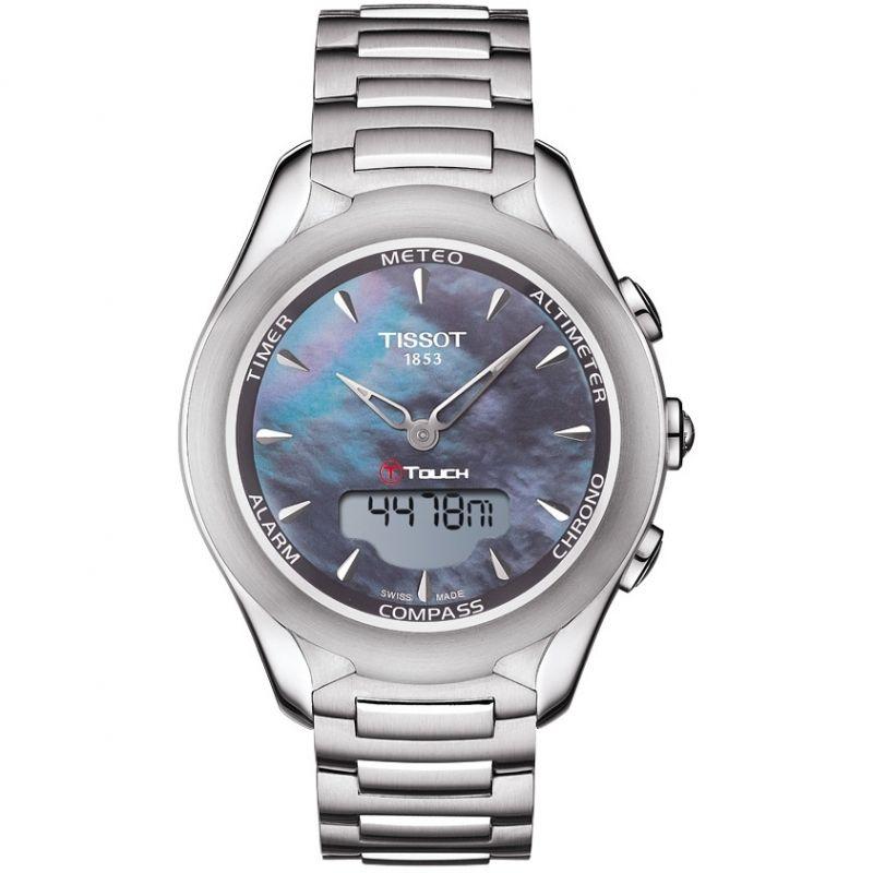 Damen Tissot T-Touch Solar Alarm Chronograph Solar Powered Watch T0752201110101