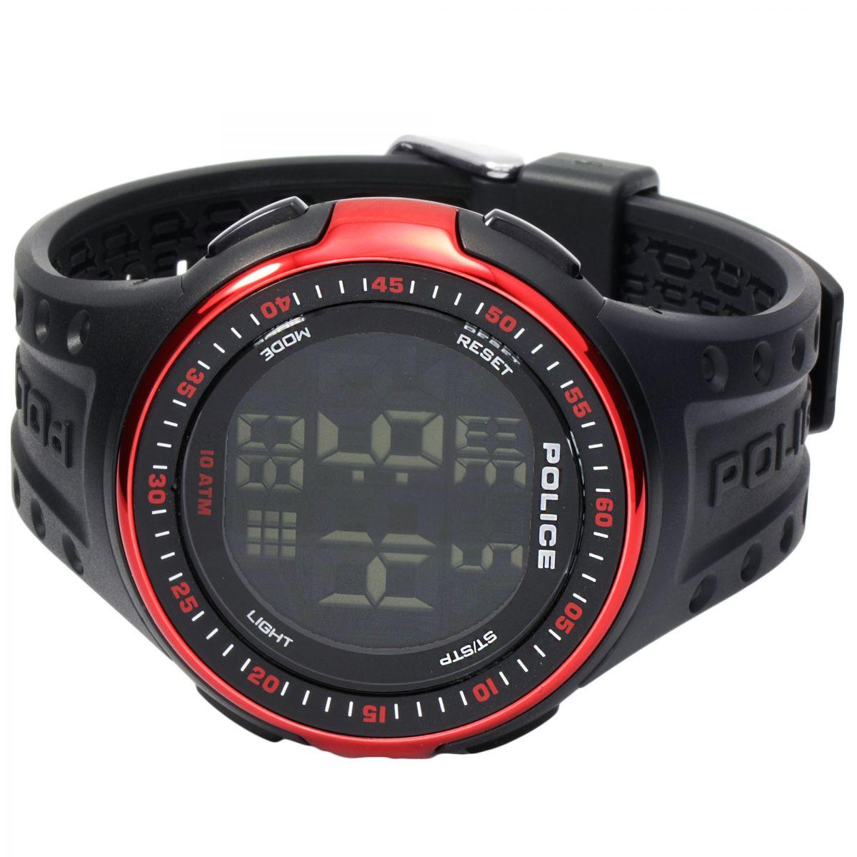 Gents Police Cyberlite Alarm Watch (13904JPBRD/02 ...