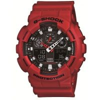 homme Casio G-Shock Alarm Chronograph Watch GA-100B-4AER