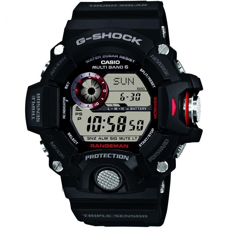 homme Casio G-Shock Rangeman Alarm Chronograph Radio Controlled Tough Solar Watch GW-9400-1ER