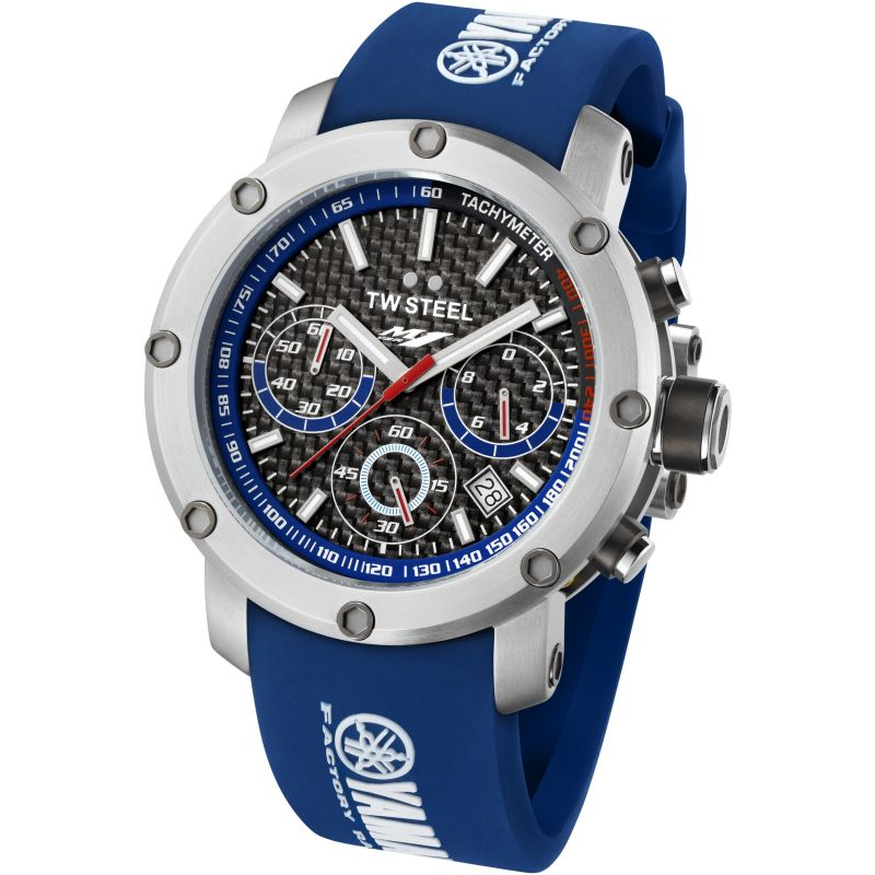 Mens TW Steel Tech Yamaha Factory Racing Edition 45mm Chronograph 45mm Watch TW0924