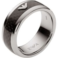 Mens Emporio Armani Stainless Steel Size U Ring
