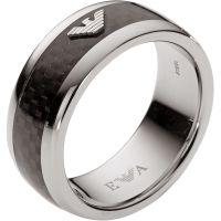 Herren Emporio Armani Edelstahl Ring Größe V