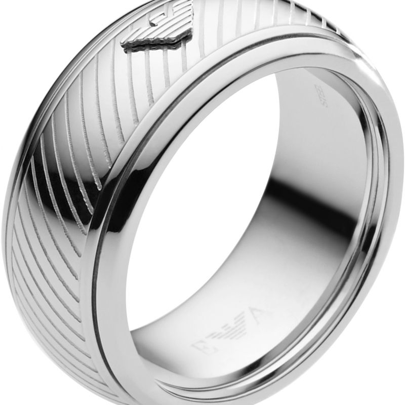 Mens Emporio Armani Stainless Steel Size U Ring EGS1752040512