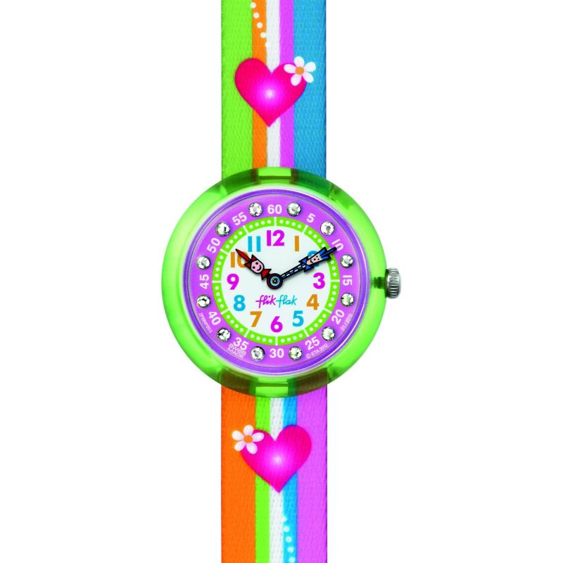 Childrens Flik Flak Stripey Stripes Watch FBNP003