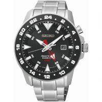 Herren Seiko Sportura GMT kinetisch Uhr