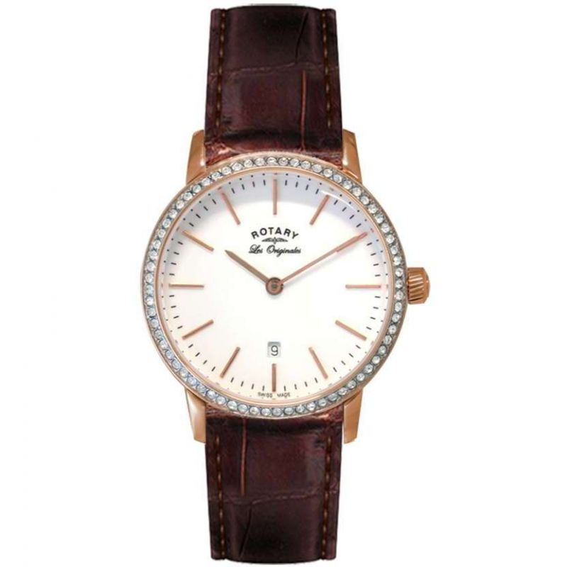 Ladies Rotary Swiss Made Kensington Quartz Watch LS90054/02