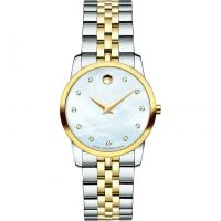 Damen Movado Museum Classic Diamond Watch 0606613