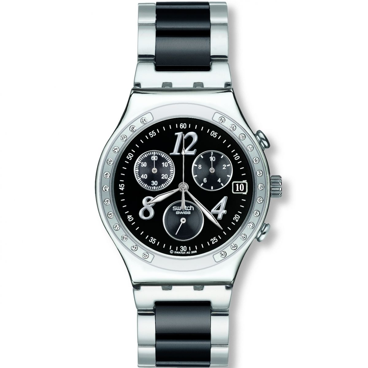 Ladies Swatch Dreamnight Chronograph Watch (YCS485GC ...