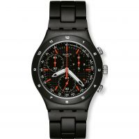 Swatch Black Coat Herenchronograaf Zwart YCB4019AG