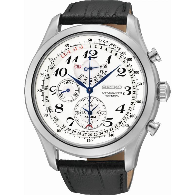 homme Seiko Alarm Chronograph Watch SPC131P1