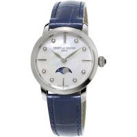 Damen Frederique Constant Slimline Moonphase Diamant Uhr