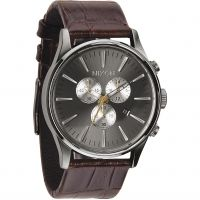 Herren Nixon The Sentry Chrono Leder Chronograf Uhr