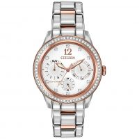 Damen Citizen Silhouette Crystal Eco-Drive Watch FD2016-51A