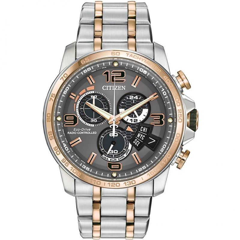 Mens Citizen Chrono Time A-T Alarm Chronograph Watch BY0106-55H