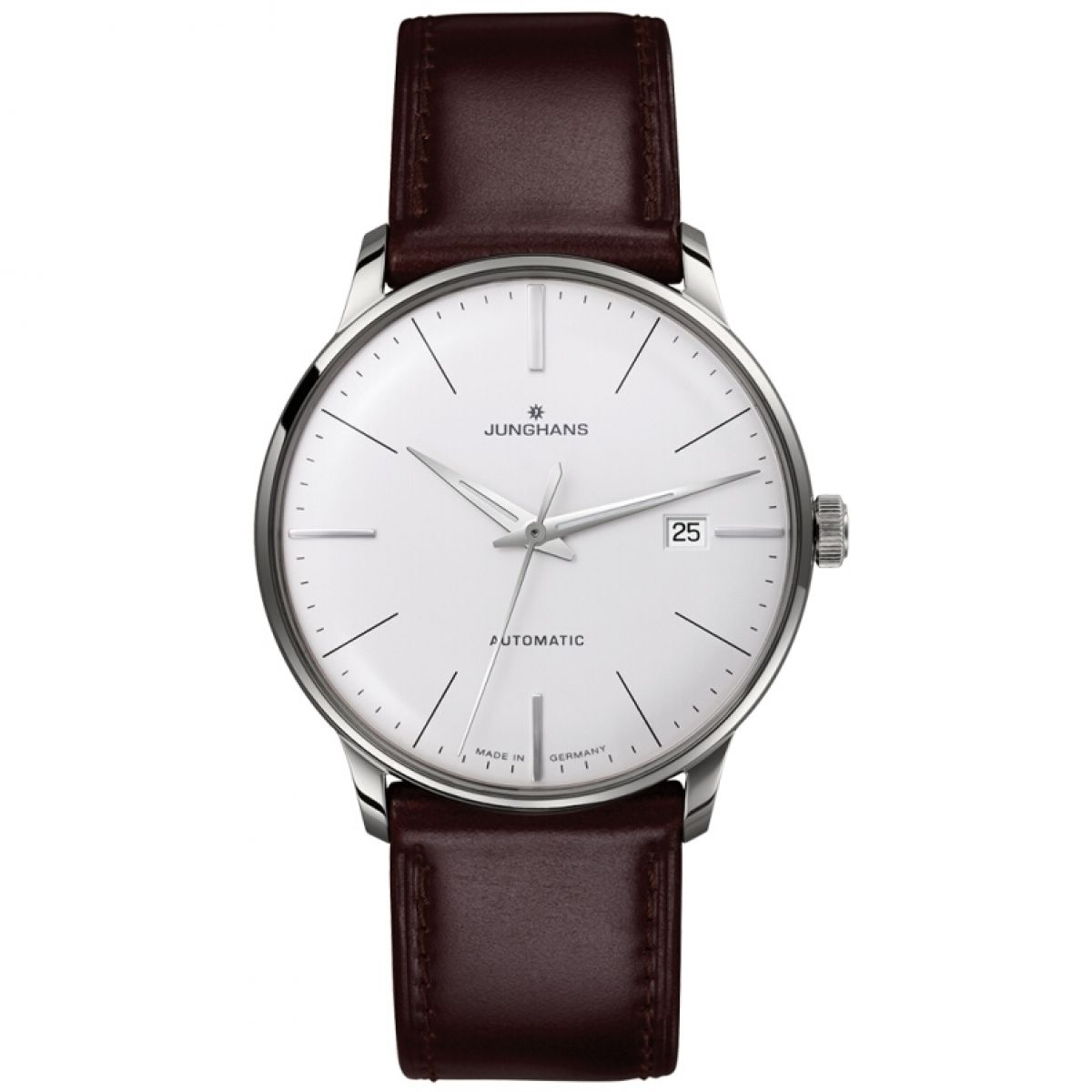 Latest New Junghans Silver 027/4310.00 Meister Classic Stainless Steel And Leather Watch for Men Sale Sale Online