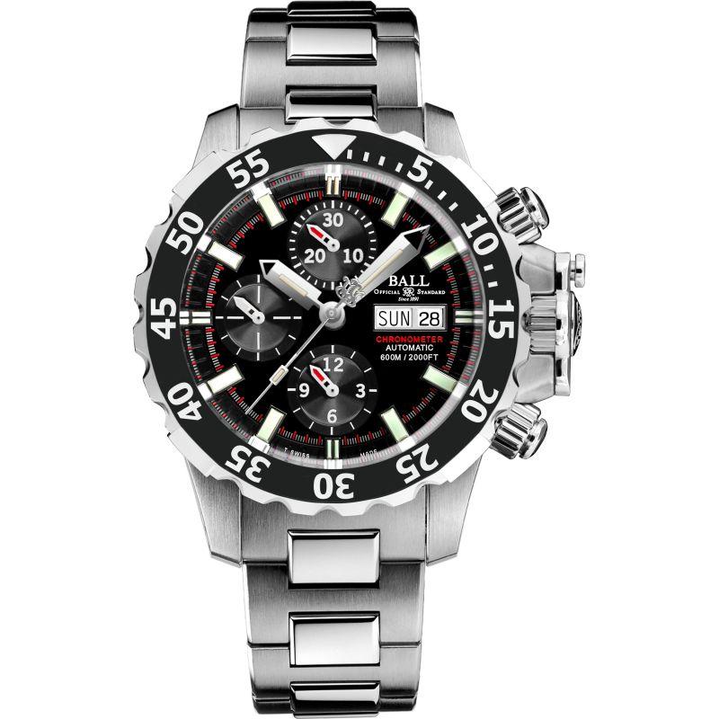 homme Ball Engineer Hydrocarbon NEDU Chronometer Chronograph Watch DC3026A-SC-BK