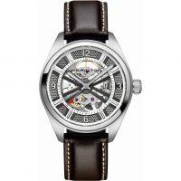 Herren Hamilton Khaki Skelett Automatik Uhr