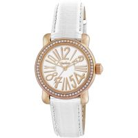 Pocket-Watch Rond Crystal Petite Damklocka Vit PK1010