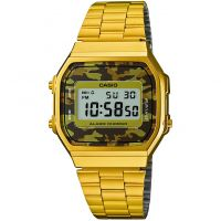 Unisex Casio Classic Alarm Chronograph Watch A168WEGC-5EF
