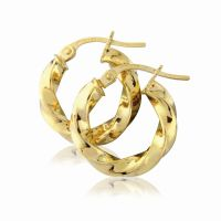 Jewellery Classic Twisted Hoop Earrings Watch ER772