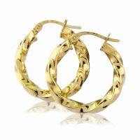 Jewellery Modern Twisted Hoop Earrings Watch ER773