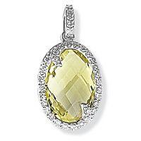 Jewellery White Diamond and Quartz Pendant JEWEL