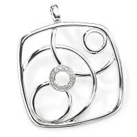 Jewellery White Diamond Pendant Watch FA493
