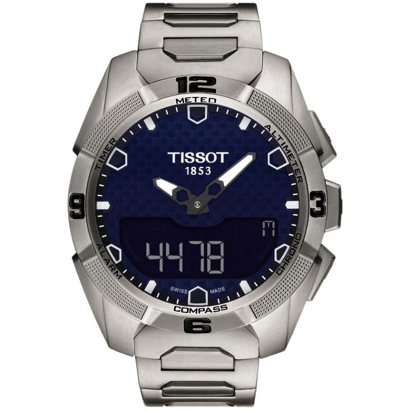 homme Tissot T-Touch Expert Solar Chronograph Watch T0914204404100