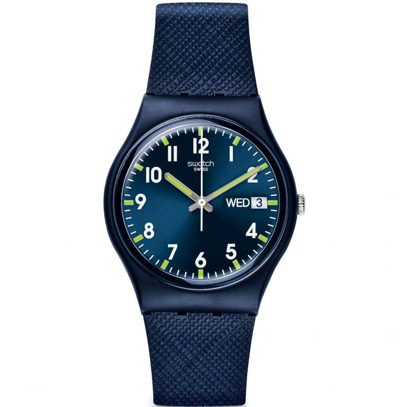 unisexe Swatch Original Gent - Sir Blue Watch GN718