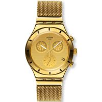 Herren Swatch Irony Chrono - Golden Cover L Chronograph Watch YCG410GA