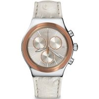 Unisex Swatch Irony Chrono - Albinostrich Chronograph Watch YVS412