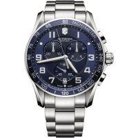 Herren Victorinox Schweizer Militär Chrono klassisch Chronograf Uhr